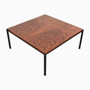 Mid-Century Italian Rosewood & Iron Coffee Table, 1960s