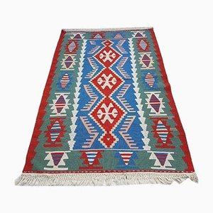 Vintage Turkish Handmade Embroidered Kilim