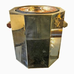 Italian Modernist Silver Plated Ice Bucket from Gioni, 1970s