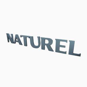 Set di lettere Naturel vintage in plastica, anni '80