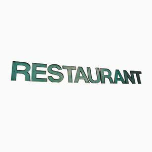 Vintage Metal Restaurant Letter Set, 1960s