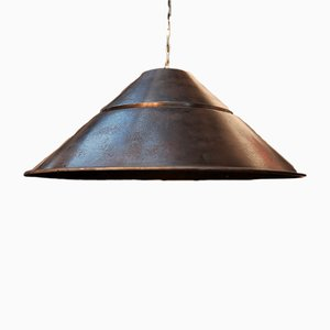Lámpara colgante platillo volante industrial vintage de Bekaert, años 60