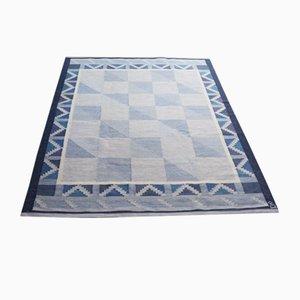 Blauer schwedischer Teppich von Anna Johanna Angstrom, 1960er