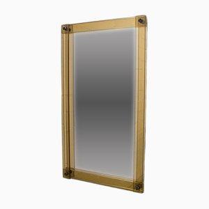 Specchio grande Hollywood Regency bicolore, anni '50