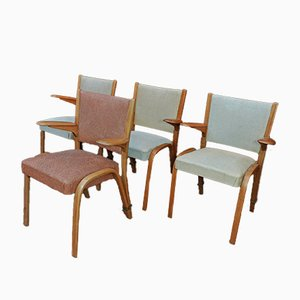 Vintage French Armchairs from Steiner, 1930s, Set of 3