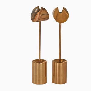 High Crescent Candleholders by Pierre Forsell for Skultuna, 1960s
