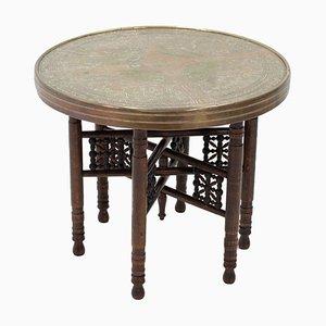 Table d'Appoint Pliable Vintage, Maroc, 1920s