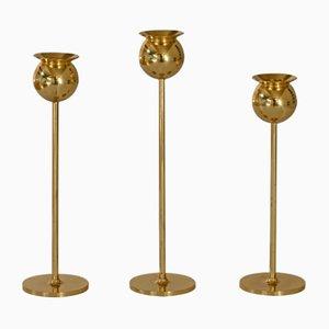 Tulip Kerzenhalter von Pierre Forsell für Skultuna, 1985, 3er Set