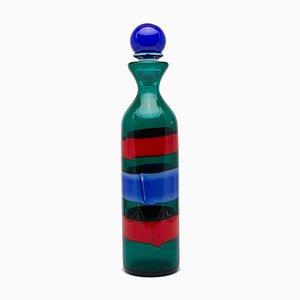 Botella de cristal de Murano con tapón de Fulvio Bianconi para Venini, 1998
