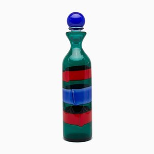 Murano Glass Bottle with Stopper by Fulvio Bianconi for Venini, 1998