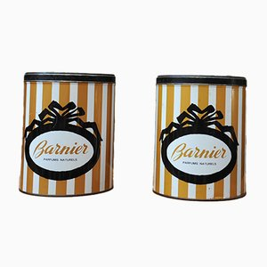 Vintage Metal Barnier Candy Boxes, 1960s, Set of 2