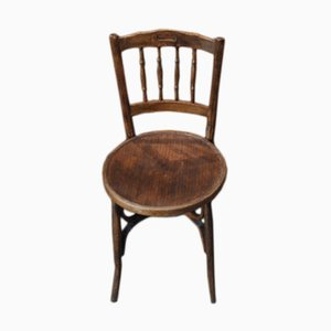 Vintage Curved Wood Bistro Chair, 1920s