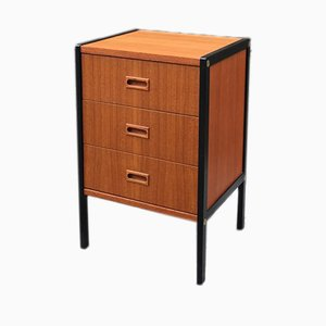Mid-Century Swedish Black Teak Chest of Drawers by Bertil Fridhagen for Bodafors, 1957