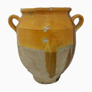 Grand Pot à Confit Provençal C19 en Terre Cuite, France