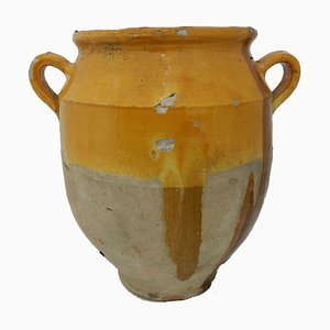 Large Provencal C19 French Confit Terracotta Pot