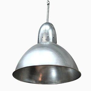 Lámpara colgante industrial de aluminio, años 60