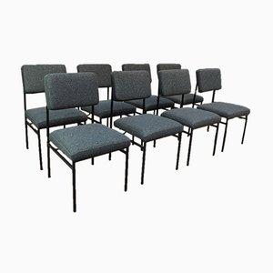 Vintage Stühle aus Metall, 1950er, 8er Set