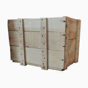 Caja vintage de abeto, años 60