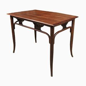 Tavolo da bistrò Art Nouveau in mogano, inizio XX secolo