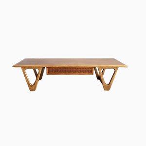 Table Basse Perception en Noyer et Chêne avec Tiroir par Warren Church pour Lane Furniture, 1960s