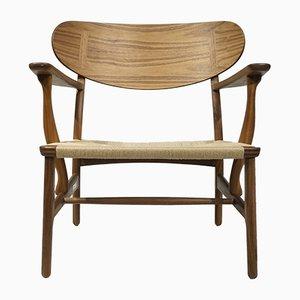 Chaise CH22 par Hans J. Wegner pour Carl Hansen & Søn, 1950s