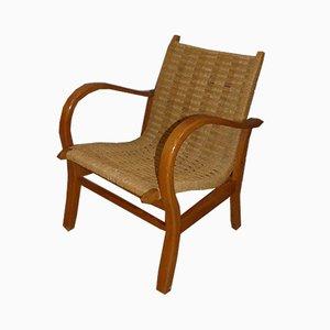 Art Deco Sisal Deck Chair by Erich Dieckmann, 1940s