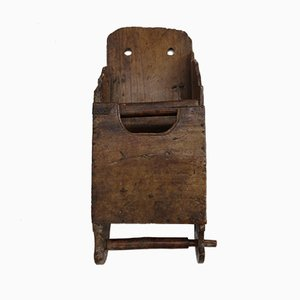 19th Century Patinated Hanging Storage Box