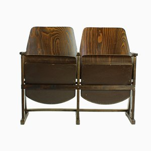 Czech Two-Seater Cinema Bench from TON, 1960s
