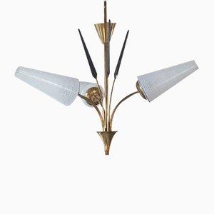 Lámpara colgante vintage con tres puntos de luz