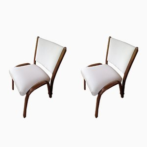 Bow-Wood Chairs by Wilhelm Von Bode for Steiner, 1950s, Set of 2