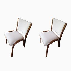 Bow-Wood Chairs by Wilhelm Von Bode for Steiner, 1950s, Set of 2