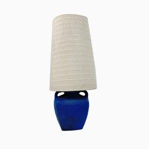 Blue Ceramic Fat Lava Floor Lamp, 1960s