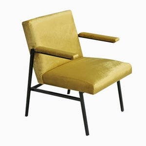 Vintage Golden Upholstered Armchair by Martin Visser for 't Spectrum