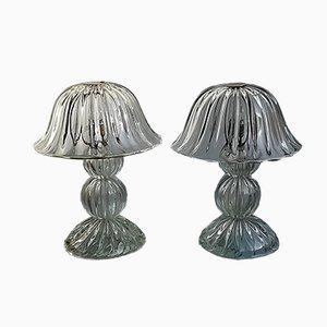 Lámparas de mesa de vidrio de Seguso, años 50. Juego de 2