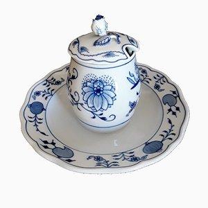 Salsiera con coperchio e piattino di Meissen, anni '50