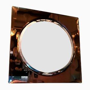 Spiegel mit Rahmen aus Glas & Messing von Cristal Art, 1950er