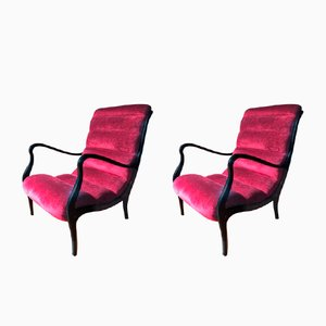 Italian Lounge Chairs by Ezio Longhi for Elam, 1950s, Set of 2