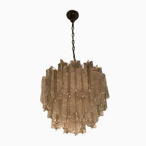Mid-Century Italian Murano Glass Chandelier by Tony Zuccheri for Venini