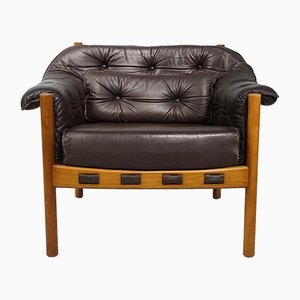 Mid-Century Armchair with Teak Frame by Arne Norell for Coja