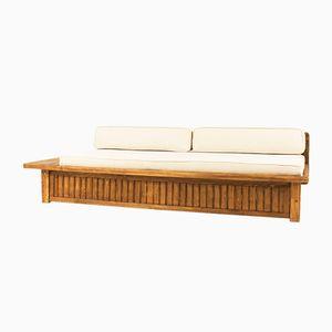 Tagesbett mit Gestell aus Pinienholz von Charlotte Perriand, 1960er