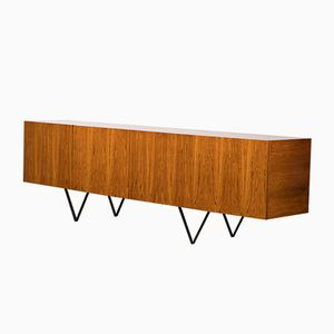 Large Minimalist Rosewood Sideboard, 1960s