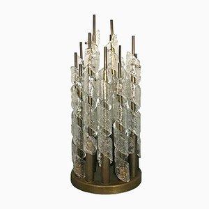 Tischlampe aus Muranoglas & Messing von Seguso, 1960er