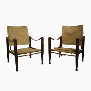 Safari Sessel von Kaare Klint für Rud Rasmussen, 1960er, 2er Set