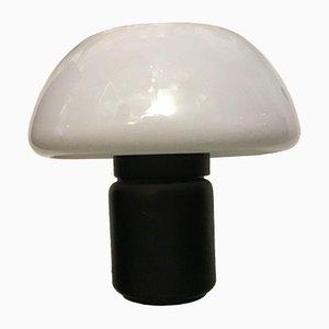 Lampada da tavolo in ottone e plexiglas di Elio Martinelli, anni '70