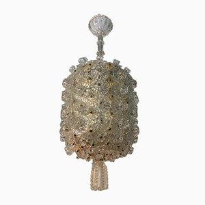Lámpara de araña vintage de cristal de Murano de Barovier & Toso, años 40