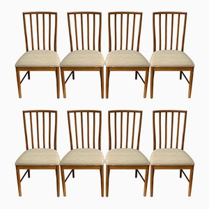 Esszimmerstühle mit Gestell aus Teak von McIntosh, 1970er, 8er Set