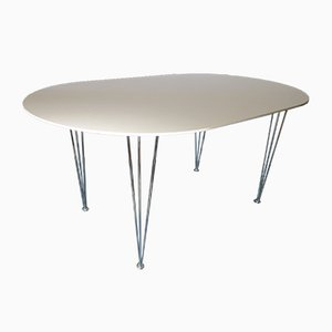 Vintage Ellipse-Shaped Dining Table with Hairpin Legs