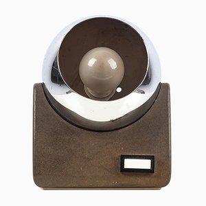 Kugelförmige Tischlampe aus italienischem Chrom, 1970er