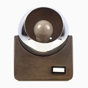 Lampe de Bureau Sphérique en Chrome, Italie, 1970s