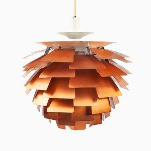 Lámpara colgante PH Artichoke de cobre de Poul Henningsen para Louis Poulsen, años 60